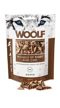 Woolf Przysmak dla psa Triangle of Rabbit and Cod 100g